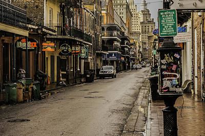 Photograph - Bourbon Street By Day by Printed Pixels
