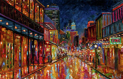 Wall Art - Painting - Bourbon Street Color by Debra Hurd