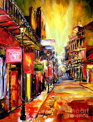 New Orleans French Quarter Wall Art - Painting - Bourbon Street Dazzle by Diane Millsap