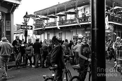 Photograph - Bourbon Street Fun Mono by John Rizzuto