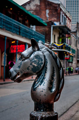 Photograph - Bourbon Street Horse Hitching Post by Andy Crawford