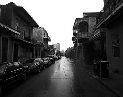 Bourbon Street In The Rain Art Print