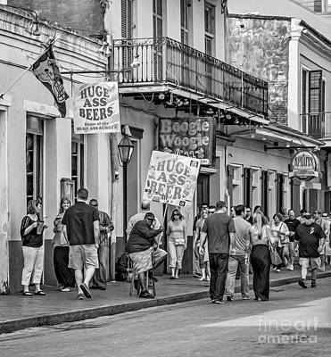 Bourbon Street - Let The Good Times Roll Bw Art Print by Steve Harrington