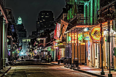 Photograph - Bourbon Street Lights by Andy Crawford