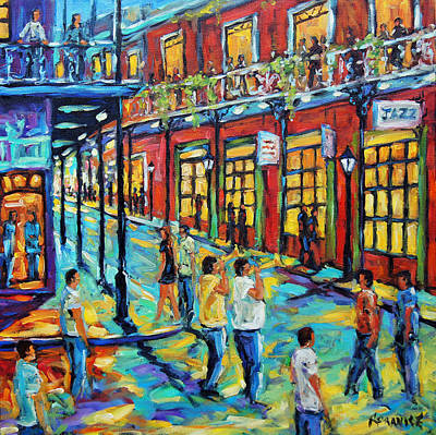 Bourbon Street New Orleans By Prankearts Original by Richard T Pranke