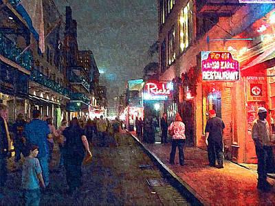 Bourbon Street - New Orleans Art Print