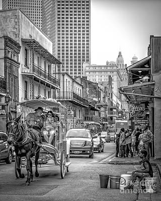 Photograph - Bourbon Street-new Orleans by Kathleen K Parker