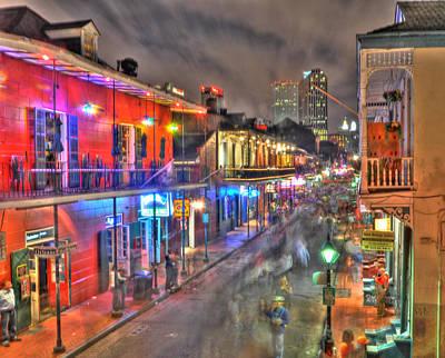 Bourbon Street Photograph - Bourbon Street Revelry by Alex Owen