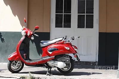 Photograph - Bourbon Street Scooter by Wilko Van de Kamp