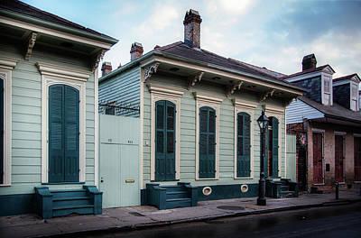 Shotgun Houses Wall Art - Photograph - Bourbon Street Shotguns by Chrystal Mimbs