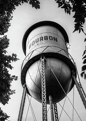 Photograph - Bourbon Tower Art - Monochrome - Black And White by Gregory Ballos