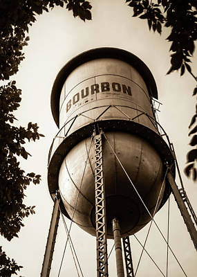 Photograph - Bourbon Tower Art - Sepia by Gregory Ballos