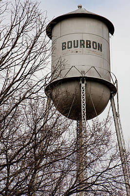 Photograph - Bourbon Tower - Vintage Whiskey Water Tower - Missouri by Gregory Ballos