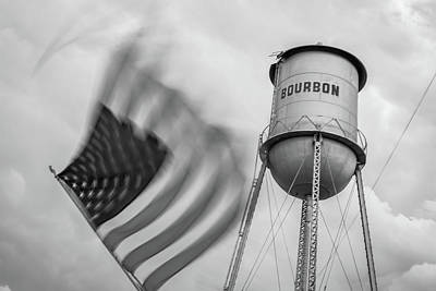 Photograph - Bourbon Usa - Monochrome by Gregory Ballos