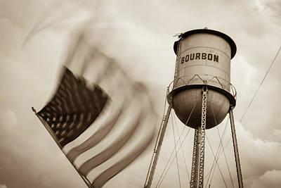 Photograph - Bourbon Usa - Vintage Sepia by Gregory Ballos