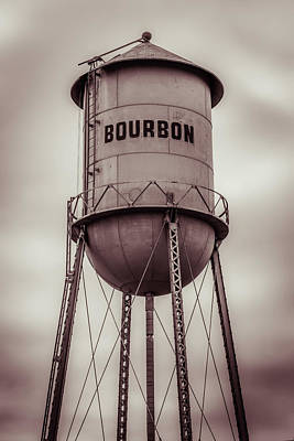 Photograph - Bourbon Vintage Tower In Sepia by Gregory Ballos