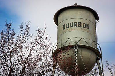 Photograph - Bourbon Water Tower - Color - Vintage Whiskey Art by Gregory Ballos