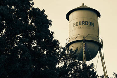Photograph - Bourbon Water Tower Pub Art - Sepia Edition by Gregory Ballos
