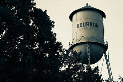 Photograph - Bourbon Water Tower Pub Art - Vintage Sepia Edition by Gregory Ballos