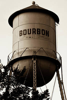 Photograph - Bourbon Whiskey Vintage Water Tower - Sepia Edition by Gregory Ballos