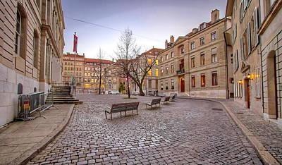 Photograph - Bourg Saint-pierre Place, Geneva, Switzerland, Hdr by Elenarts - Elena Duvernay photo