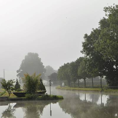 Photograph - Bourgogne Canal In Mist by Cheryl Miller