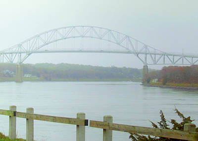 Bourne Bridge Photograph - Bourne In The Fog Of July by Lori Pessin Lafargue