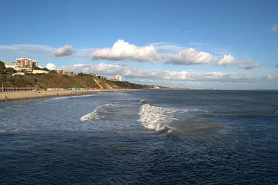 Photograph - Bournemouth Beach And Cliffs by Chris Day