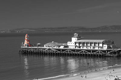 Photograph - Bournemouth Pier And The Red Helter Skelter by Chris Day