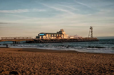 Photograph - Bournemouth Pier At Sunset by Phyllis Taylor