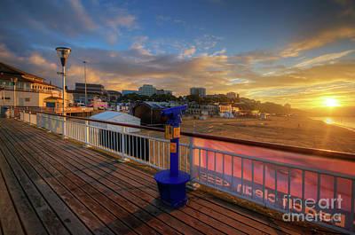 Photograph - Bournemouth Pier Sunrise by Yhun Suarez