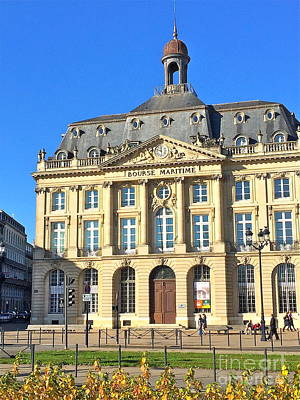 Photograph - Bourse Maritime In Bordeaux by Barbara Plattenburg