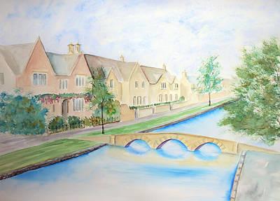 Painting - Bourton Village by Elizabeth Lock