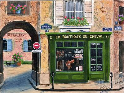 Wall Art - Painting - Boutique Du Cheval by Marilyn Dunlap