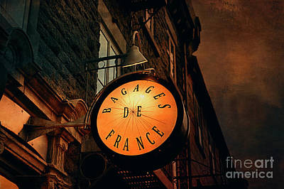 Photograph - Boutique Sign - Quebec City by Maria Angelica Maira