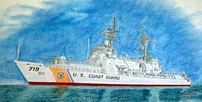 Mixed Media - Boutwell-u.s.coast Guard 719 by Antonia Citrino