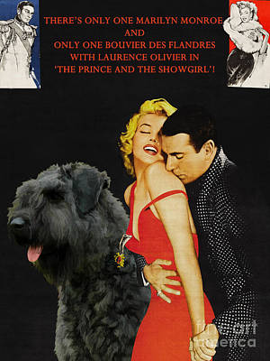 Painting - Bouvier Des Flandres - Flanders Cattle Dog Art Canvas Print - The Prince And The Showgirl Movie Post by Sandra Sij