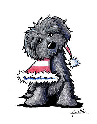 Puppy Drawing - Bouvier Des Flandres Puppy by Kim Niles