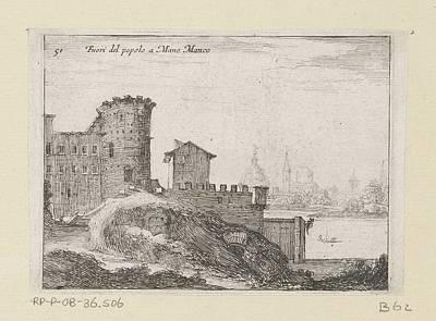 Lucille Ball - Bouwwerken te Rome, nabij of Porta del Popolo, Giovanni Battista Mercati, 1629 by Giovanni Battista Mercati