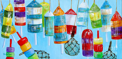 Blue Bouys Painting - Bouys IIi by Pauline Ross