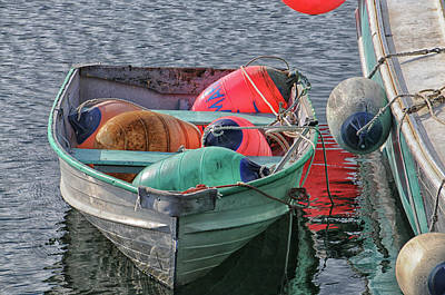 Photograph - Bouys In A Boat by Mike Martin