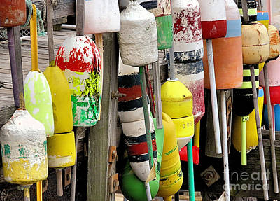 Photograph - Bouys Tied To The Ramp by Janice Drew