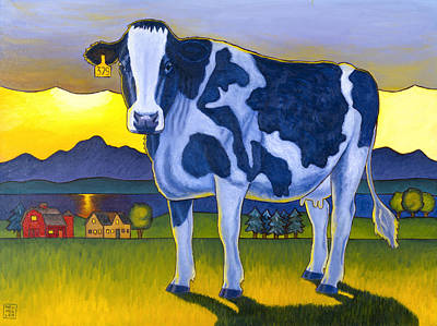 Dairy Farm Painting - Bovine Whidbey by Stacey Neumiller