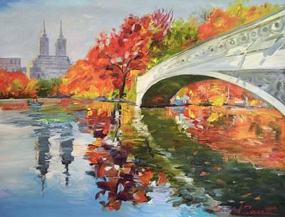 Bow Bridge Central Park Original by Eduard Zenuni