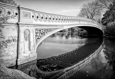 Photograph - Bow Bridge - Central Park - New York City by Daniel Hagerman