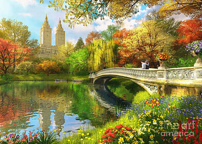 Bow Bridge Art Print