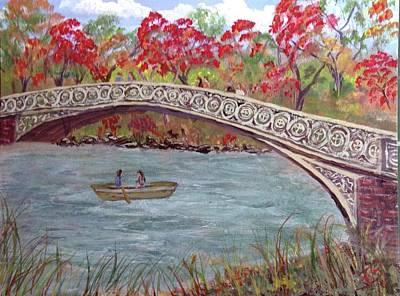 Bow Bridge In Autumn Original by Tommie Billington
