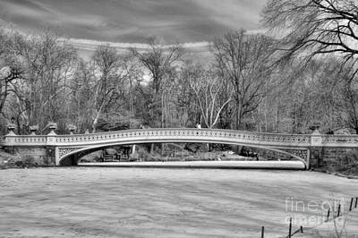 Bow Bridge In Black And White 1 Art Print by Paul Ward