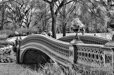 Bow Bridge In Black And White  Art Print by Paul Ward