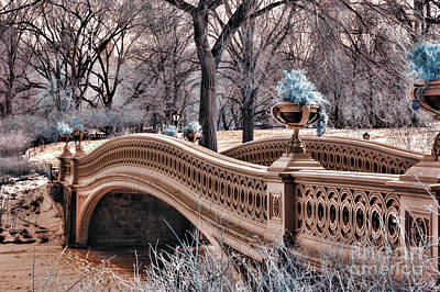 Bow Bridge In Infared Art Print by Paul Ward